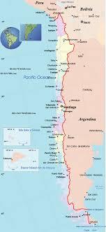 mapa chile santiago
