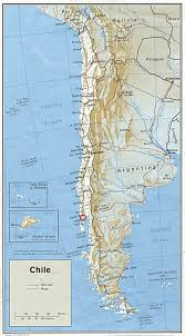 map of southern chile