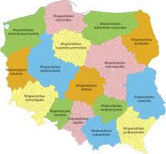 mapa polski woj