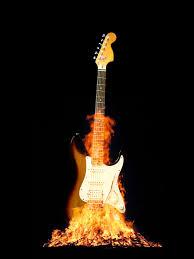 flamed guitar