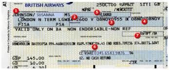 flight ticket number