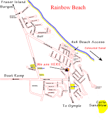 rainbow beach map
