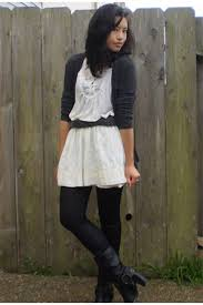 dress with leggings