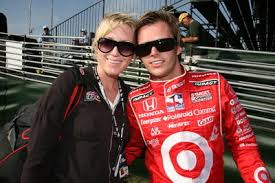 Dan Wheldon and his wife,