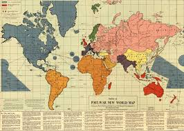 map of the new world
