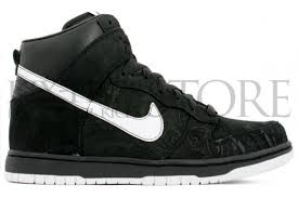 black and white nike dunks high