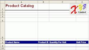 product catalog templates