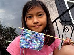 kid knitting