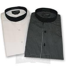 banded collar tuxedo shirt