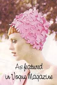 flowered swim cap