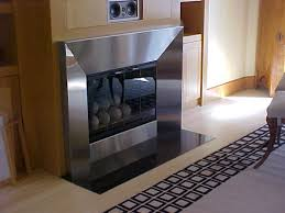 fireplace stainless steel