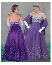 purple bridesmaid gowns