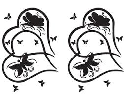 butterflies hearts