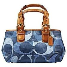 denim coach handbags