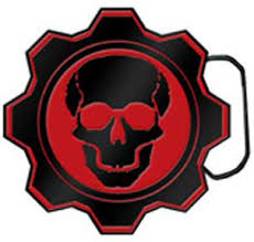 gears of war belt buckle
