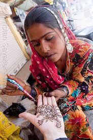 henna temporary tattoo