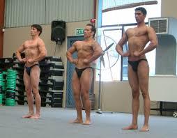 body builders posing