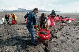 exxon valdez oil spill clean up