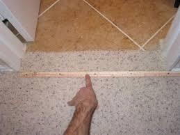 tile to carpet threshold