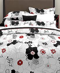 red white and black bedding