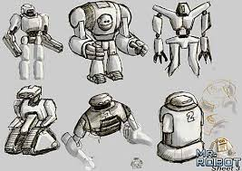 drawings robots