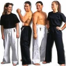 black martial arts pants