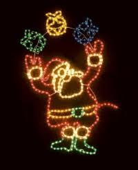 santa xmas lights