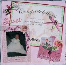 baby girl scrapbook page ideas