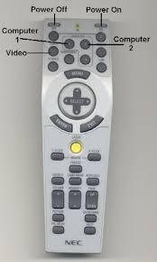 nec remote