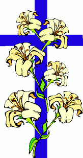 cross with flowers clip art