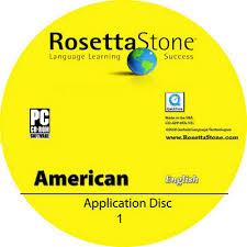 rosetta stone cd label