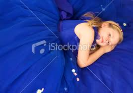 girl in the blue dress