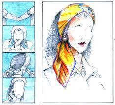 head scarf tying