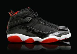 jordan six rings black red