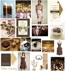 gold and brown wedding