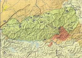 great smoky mountain map