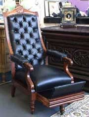 antique recliner chair