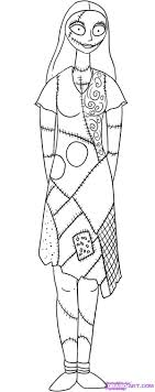 jack and sally coloring pages