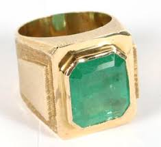 mans emerald ring