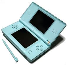 nintendo ds in blue