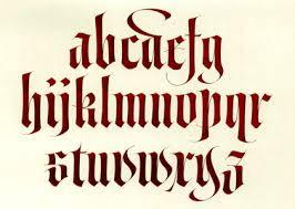 old school alphabet