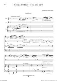 harp sheet music