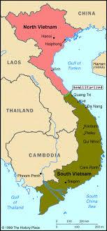 map of vietnam during the war