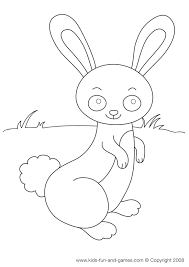 coloring pages easter bunny