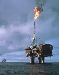 north sea oil rig photos