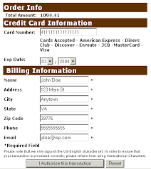 credit card informations