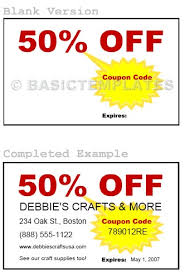 coupon template free