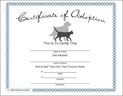 blank adoption certificate