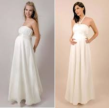 maternity bridal gown