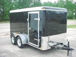 black enclosed trailer